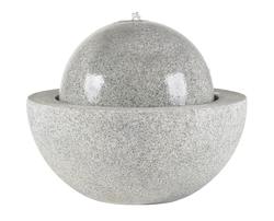 Fountainslite; Komplett-Brunnen; Esteras; Guapi 57 Granite Grey; granitgrau; 8512314057; LED; Pumpe; Vulkan; Kugel; Garten