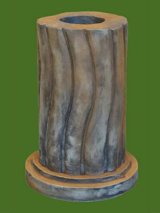 Säule für Tristan und Isolde; geschwungen; Liebespaar; Vidroflor; Steinguss; Rosteffekt; rund; 116040R; 116041R