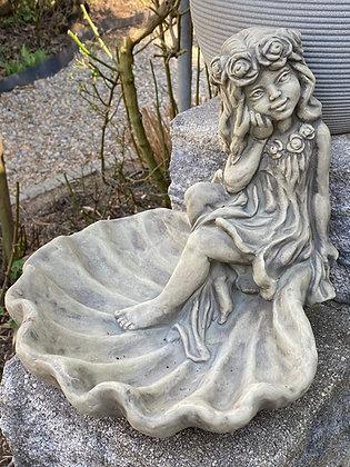 Vogeltränke Rosenmädchen; Betonguss; Zauberblume; Galarosa; 24-30004; Wasserschale; Garten; Skulptur; frostfest