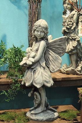 Flower Fairy; Flower Fairies; Schlüsselblume; Schluesselblume; Vidroflor; 8028; Steinguss; Antik; Blumenelf; Dahlie