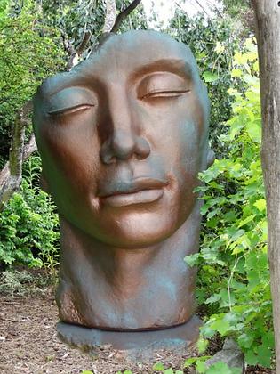 Gesicht Mann; gross; groß; Farbe Kupfer Effekt; 8081K; Vidroflor; Steinguss