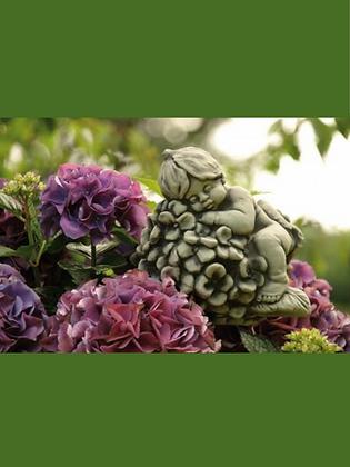 Sprössling Hortensie; Vidroflor; Steinguss; frostfest; 114440; zum Stellen; zum Stecken auf Metallstab; Gartendekoration