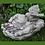 Vogeltränke Hände mit Vogel; Steinguss; Antik; grau; Vidroflor; 118500; Vogeltränke; Gartendeko; für Vögel; Wasserschale