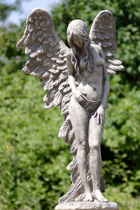 Shekinah; Engel; Engelfrau stehend; Vidroflor; Steinguss; Antik; Patina; 8086; Himmel; Ramona; weise Beschützerin