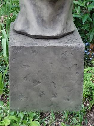 Vidroflor; Säule; kleines Gesicht Mann; 116511; Steinguss; Antik