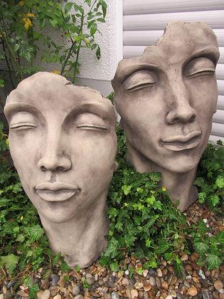 Gesicht Mann und Frau; weiblich; männlich; Vidroflor; Steinguss; 116500; 116501