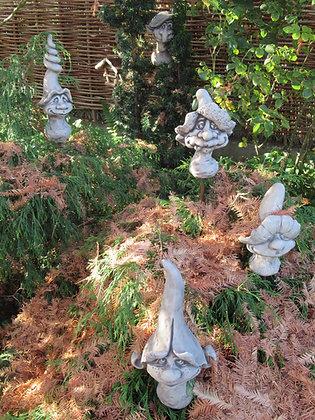 Magic Mushrooms; Magische Pilze; Vidroflor; Steinguss; Gartenfigur; 114930; 114932; 114933; 114934; 114936; lustig; frech