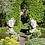Vidroflor; Gesicht Mann und Frau; mittel; Gesichterpaar; Gesichter; Steinguss; antik; 116550; 116551