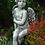 Engel Sava sitzend; Raphael; Steinguss; Vidroflor; Antik; 116060; Raphael; Gartenfigur; Schutzengel; Grabengel