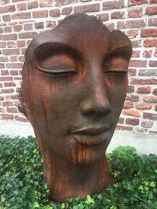 Gesicht Frau; groß; Farbe Edition Oxid; Vidroflor; Steinguss; 8082EO