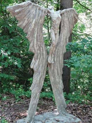 Ikarus; Farbe Antik; Steinguss; 118200; Vidroflor; Skulptur; Kunst