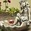 Vogeltränke Rosenmädchen; Zauberblume; frostfester Betonguss; Steinguss; Vogelbad; Bienentränke; Wasserbad; Gartendeko