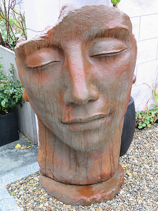 Gesicht Mann; groß; Vidroflor; Platte; 8081EO; Farbe Edition Oxid; Kopf