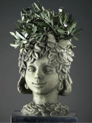 Zauberblume; Blütentopf; Rosenblatt; frostfest; Betonguss; Steinguss; bepflanzbar; Galarosa; Blumentopf; Skulptur; 24-60022