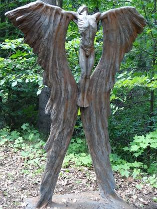 Ikarus; Farbe Rosteffekt; Vidroflor; 118200R; Gartenfigur; Steinguss