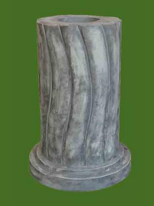 Sockel; Säule; Liebespaar; Tristan und Isolde; Galarosa; Vidroflor; Podest; Sockel; Antik; Steinguss; geschwungen; rund