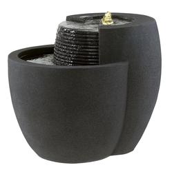 Esteras; Fountainslite; Komplett-Brunnen; Comallo; 48; Black Stone; schwarzer Stein; 8512120848; Bauchlauf; LED; Pumpe