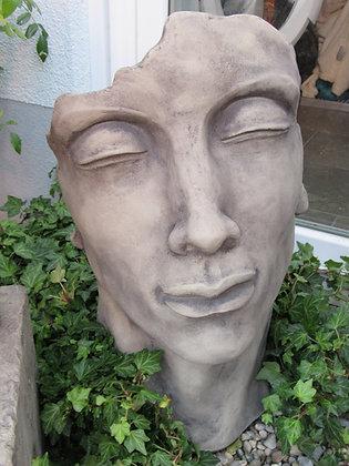 Gesicht Mann; klein; Steinguss; Antik; Kopf; 116500; Vidroflor; Skulpturengarten; Gartenfigur; männlich; frostfest; modern