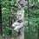 Baumhüterin Kastanie; Vidroflor; Steinguss; Antik; 116401; Baumfrau auf Stamm; Galarosa; Skulptur; Gartenfigur; Baumfigur