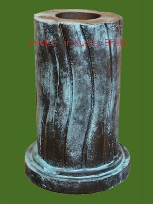 Säule; Tristan und Isolde, Liebespaar; Kupfer Effekt; Vidroflor; Steinguss; 116041K; geschwungene Säule; rund
