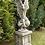 hockend; Engel Rachel und Sockel; klein; 114560; 114130; Steinguss; Antik; Vidroflor; Engel auf Säule; Engel auf Sockel