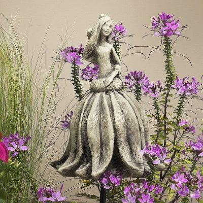 Zauberblume; Blütentänzerin; Sonnenhut; 19-92000; Betonguss; Steinguss; für Metallstab; Gartenfigur; Blume zum Stecken; Deko