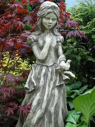 Schneewittchen; Schwesterlein; Gebrüder Grimm; Vidroflor; 114272; Steinguss; Gartenfigur; Märchenfigur; Gartendeko; Galarosa