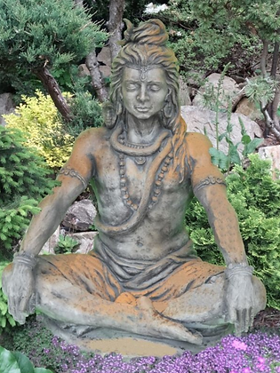 Gartenfigur; Shiva; Steinguss; Rosteffekt; 114370R; Skulptur; Meditation; Asiagarten; Galarosa; chinesischer Garten