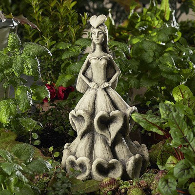 Zauberblume; Blüten; Tänzerin; Blume; zum Stecken; Metallstab; Fingerhut; Steinguss; Betonguss; frostfest; Garten; 19-92013