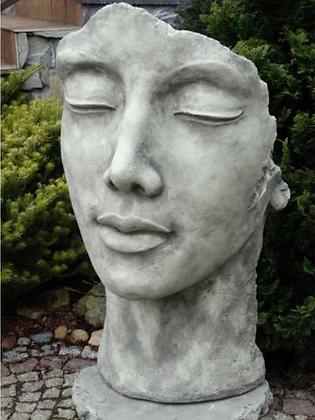 Gesicht Frau; groß; Platte; Vidroflor; 8082; Kopf; Steinguss; Antik