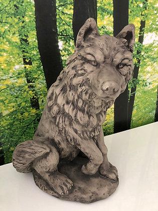 Wolf; Steinguss; Vidroflor; 114231; Rotkäppchen; Märchen; Gartenfigur; Gartendeko; Skulptur; Grimm; Galarosa