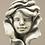 Zauberblume; Blumenkind; Rose; Betonguss; Zauberblume; Steinguss; Rosenkind; Steinrose; 19-90064; Rose mit Gesicht; für Stab