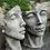 Gesicht; Gesichter Mann und Frau klein; Gesichterpaar; Steinguss; Antik; 116500; 116501; Vidroflor; Deko