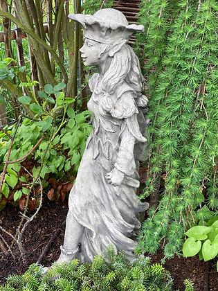 Waldfigur; Diana; Galarosa; Waldbewohnerin; Sigrun; Steinguss; 114505; Vidroflor; Gartenfigur; Skulptur; Waldfigur; gehend