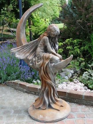 Mondfee; Lunaria; Vidroflor; Steinguss; Rosteffekt; 114250R; Mondtraum; Gartenfigur; Galarosa; Skulptur; Traum