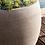 beige; Gartentopf; Fiberglas; Rillen; Linien; Esteras; betonfarben; Galarosa; Rillo; warm con.; hellgrau; Blumentöpfe; GFK