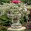 Vidroflor; Steinguss; Pentola; Gefäß mit Henkel; Blumentopf; Antik; grau; Gartendeko; Blumengefäß; 114160