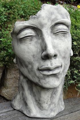 Gesicht klein; Mann; Vidroflor; Steinguss; Kopf; Antik; Deko; 116500