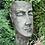 Pflanzgefäß Frau; Pflanzkopf; Vidroflor; Steinguss; Antik; grau; 11501; besonderer Pflanztopf weiblich; Blumentopf