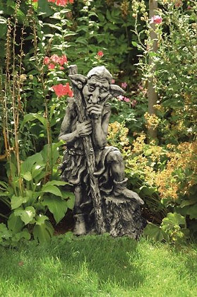 Waldbewohner nachdenklich; Gunther; Steinguss; Vidroflor; Waldfigur; Gregor; Gartenfigur; Gnom