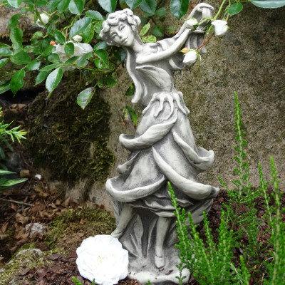 Zauberblume; Blütentänzerin; Rose; Blumentänzerin; zum Stecken; auf Metallstab; 19-92015; Steinblume; Steintänzerin; Garten