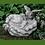 Vidroflor; Hände mit Vogel; Vogeltränke; Wassertränke; Steinguss; 118500; Antik; grau; Vogelbad; Gartendeko; Wasserschale