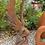 Engel Leila; Athene; Königin der Nacht; Steinguss; frostfest; Galarosa; Vidroflor; Rost; Edition Oxid; 118101EO; Grabengel