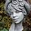Galarosa; Frauenkopf mit Hut; Blumen; Büste; Steinguss; Betonguss; frostfest; Lady Calendula; Zauberblume; Gartenfigur; Deko