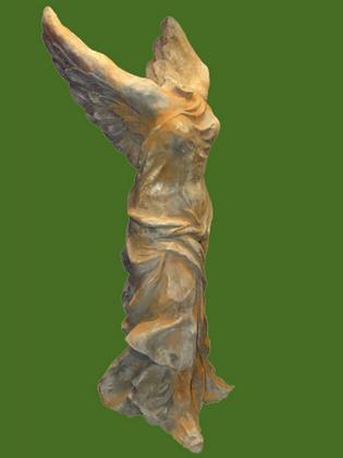 Nike; Vidroflor; Steinguss; 8088R; Rosteffekt; griechische Siegesgöttin; Gartenfigur; Skulptur; Galarosa; Statue