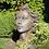 Vidroflor; Steinguss; modern; Kopf; Gesicht Frau; mittel; Rosteffekt; 116551R