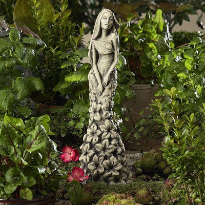 Zauberblume; Blütentänzerin Rittersporn; Betonguss; Steinguss; frostfest; zum Stecken; auf Stab; 19-92012; Blumenfrau