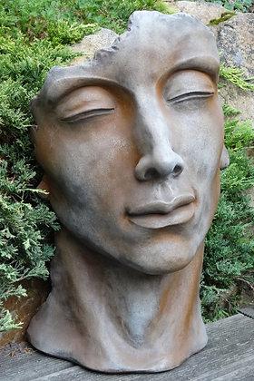 Vidroflor; Gesicht Mann; klein; Farbe Rosteffekt; 116500R; Steinguss