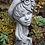 Lady; Calendula; Zauberblume; Büste; Dame mit Hut; Blumen im Haar; Steinguss; Betonguss; frostfest; Kopf
