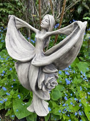 Blütentänzerin Schneeglöckchen; Zauberblume; Galarosa; Skulptur; Gartenfigur; Steinguss; Betonguss; 19-92011; Dekoration